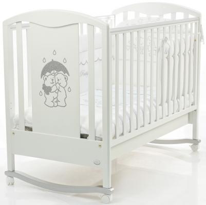 Кроватка-качалка Bambolina Tesoro (белый)