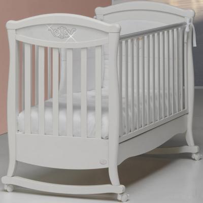 Кроватка-качалка Bambolina Principessa Cristallo (белый)