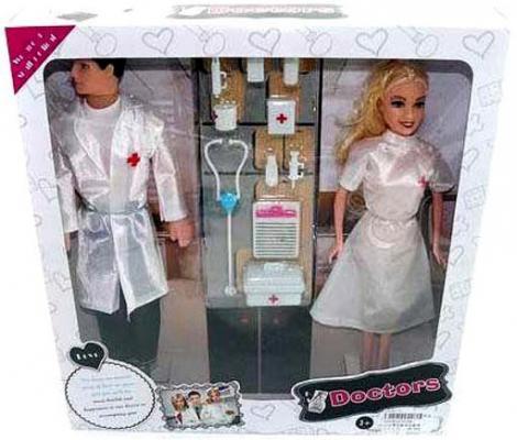 """Игровой набор Shantou Gepai """"Доктор"""" 2 куклы и аксессуары 9189"""