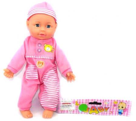 Пупс Shantou Gepai Baby 33 см со звуком P8829-3-PVC мягконабивной
