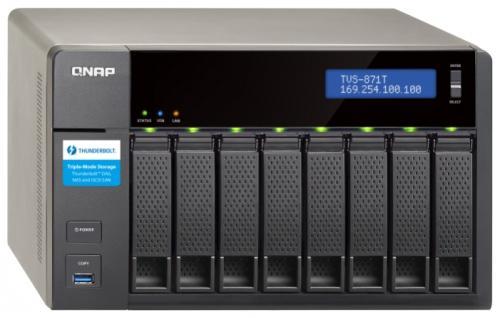 "Сетевое хранилище QNAP TVS-871T-i7-16G 3.2.ГГц 8x3.5""HDD hot swap RAID 0/1/5/6/10 4xGbLAN 5xUSB 1xHDMI"