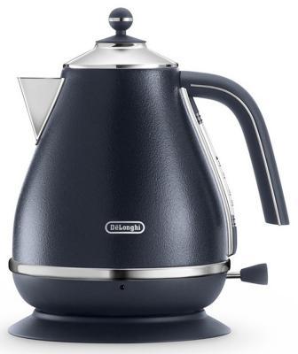 Чайник DeLonghi KBOE2001 2000 Вт чёрный 1.7 л металл чайник delonghi kboe2001 r 2000вт 1 7л красный