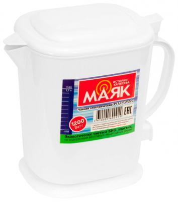 Чайник Маяк ЭЧ 1,7/1,2-220 1200 Вт белый 1.7 л пластик