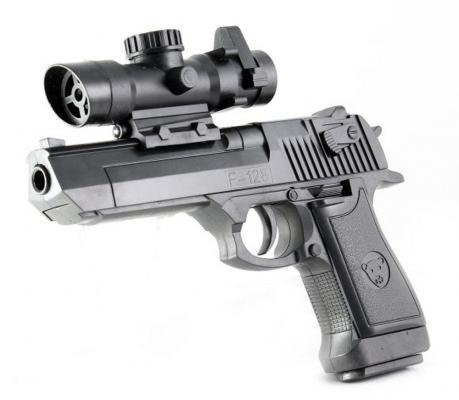 Пистолет Shantou Gepai ES882-F128A черный 6927430665170