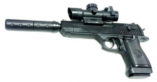 Пистолет Shantou Gepai ES882-F128A+ черный