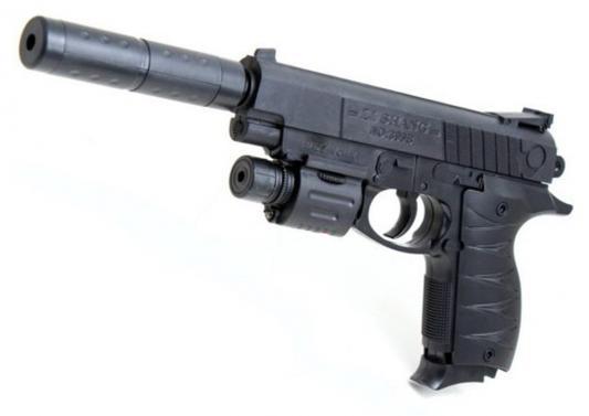 Пистолет Shantou Gepai ES869-399B-3 черный 6927430665583