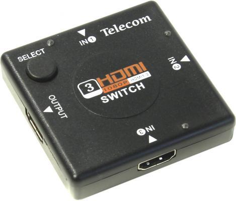 Переключатель HDMI 3 - 1 Telecom TTS6030 переключатель vcom hdmi 3 1 [vds8030]