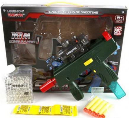 Автомат Shantou Gepai 2 в 1, стреляет мягкими пулями и гелевыми шариками M30C