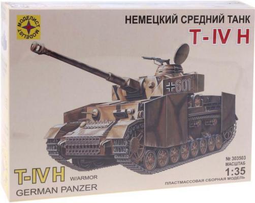 Танк Моделист T-IV H,1:35 1:35 коричневый 303503 моделист модель танк пантера d 1 35 303550