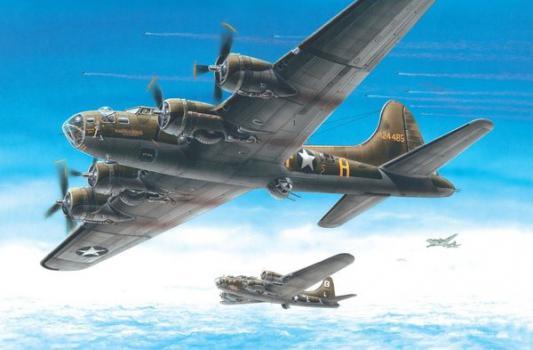 Самолёт Моделист бомбардировщик Б-17 Летающая крепость 1:72 4607061763064