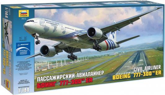 Самолёт Звезда Боинг 777-300ER 1:144 белый 7012