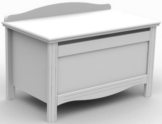 Ящик для игрушек с крышкой Fiorellino Slovenia МДФ белый