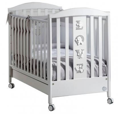 Кроватка Baby Expert Baby Love (белый/серебро)