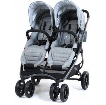Коляска прогулочная для двойни Valco Baby Snap 4 Ultra Duo Tailormade (grey marle)