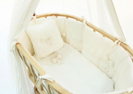 Комплект для колыбели+марасик Fiorellino Premium Baby (крем)