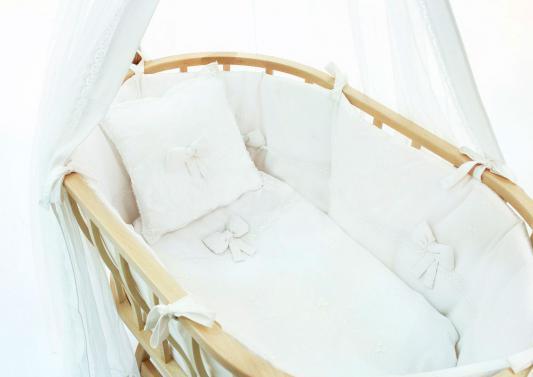 Комплект для колыбели+марасик Fiorellino Premium Baby (белый)