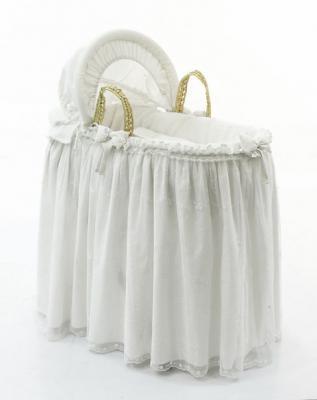 Корзина плетеная с капюшоном Fiorellino Premium Baby (крем)