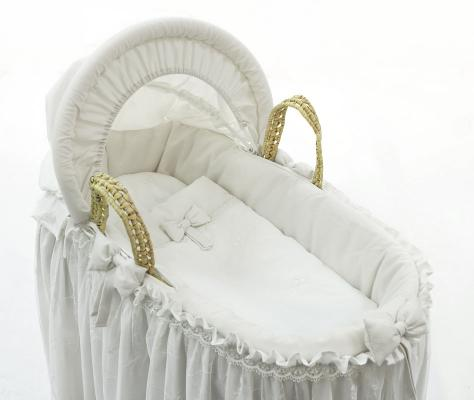 Корзина плетеная с капюшоном Fiorellino Premium Baby (белый)
