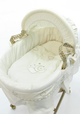Корзина плетеная с капюшоном Fiorellino Luna Elegant