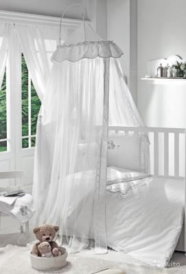 Балдахин на кроватку Fiorellino Lovely Bear (белый)
