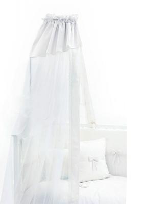 Балдахин на кроватку Fiorellino Premium Baby (белый)