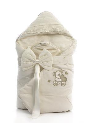 Одеяло-конверт 80х80см Fiorellino Lovely Bear (крем)
