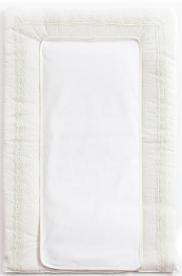 Покрывало-матрасик для пеленания 50х80см Fiorellino Premium Baby (белый)