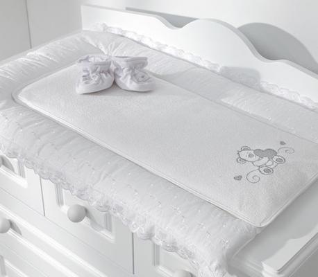 Покрывало-матрасик для пеленания 50х80см Fiorellino Lovely Bear (белый)