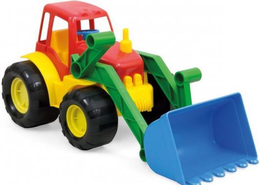 Трактор ZEBRATOYS ACTIVE с ковшом разноцветный 17 см
