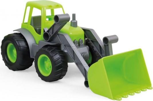 Трактор ZEBRATOYS с ковшом зеленый