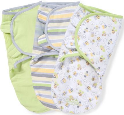 Конверты для пеленания на липучке размер S/M 3 шт. Summer Infant Swaddleme (пчелки)