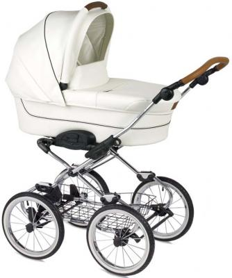 """Коляска для новорожденного Navington Caravel (колеса 14""""/цвет royal snow/EVA Wels)"""