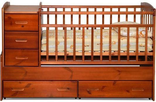 Кроватка-трансформер Noony Wood Chalet (красное дерево)
