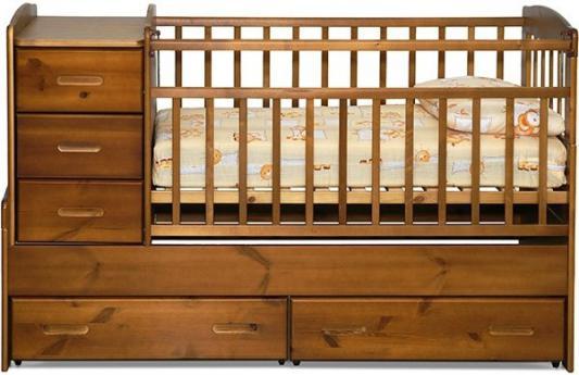 Кроватка-трансформер с маятником Noony Wood Chalet (светлый дуб)