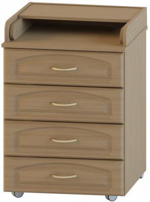 Комод с пеленальной доской Атон-М Орион КР 60/4 (бук/ПВХ) атон мебель кр 80к 5 пвх венге