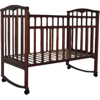 Купить Кроватка-качалка Агат Золушка-1 (шоколад), массив березы, Кроватки-качалки