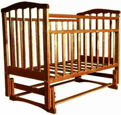 Кроватка с маятником Агат Золушка-3 (орех) цены онлайн