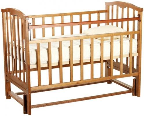 Кроватка с маятником Золушка-5 (орех)