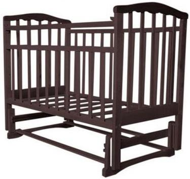 Кроватка с маятником Агат Золушка-3 (шоколад) цены онлайн