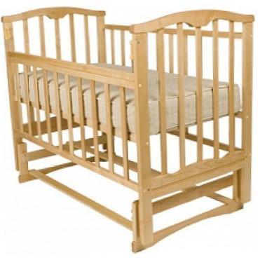 Кроватка с маятником Агат Золушка-5 (светлый)