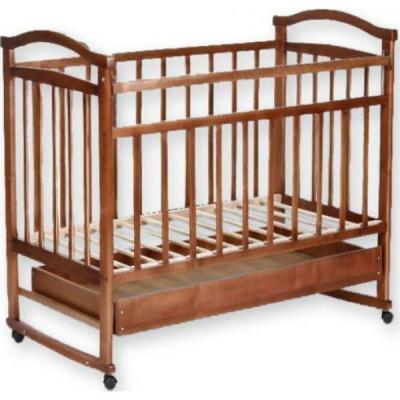 Кроватка-качалка Золушка-2 (орех)