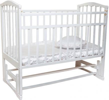 Кроватка с маятником Агат Золушка-5 (белый)