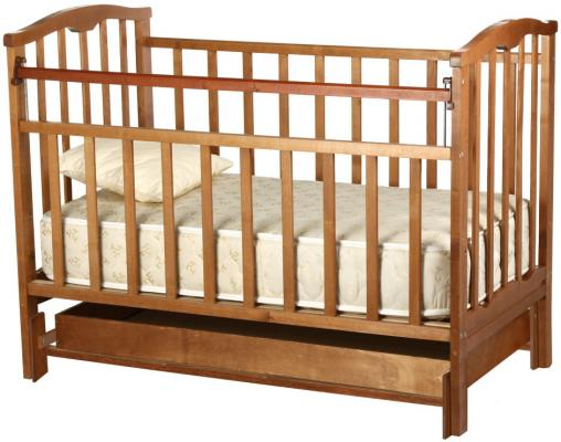 Кроватка с маятником Агат Золушка-4 (орех)