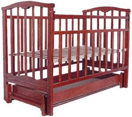 Кроватка с маятником Золушка-6 (вишня)