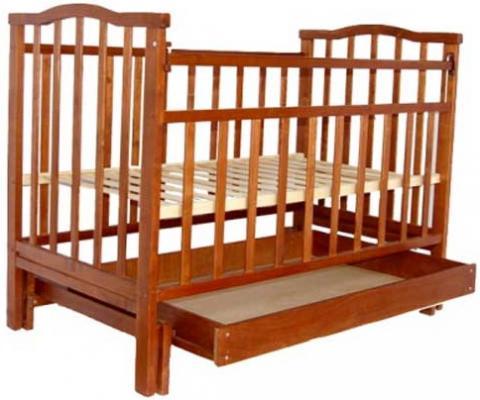 Кроватка с маятником Агат Золушка-4 (вишня) агат кровать детская золушка 4 попер маятник откр ящик вишня