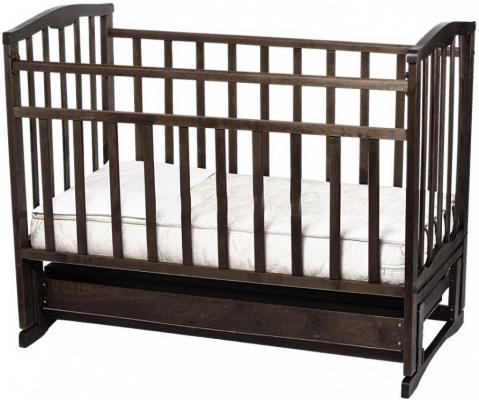 Кроватка с маятником Золушка-6 (шоколад)