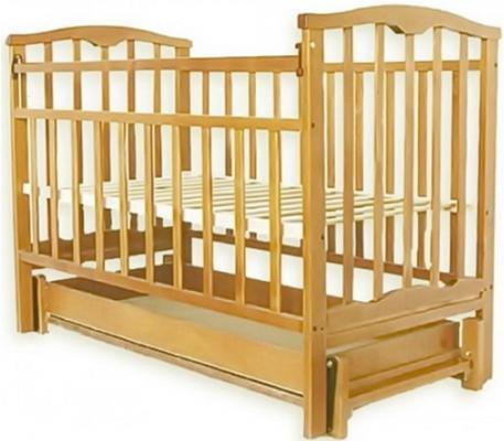 Кроватка с маятником Золушка-4 (светлый)