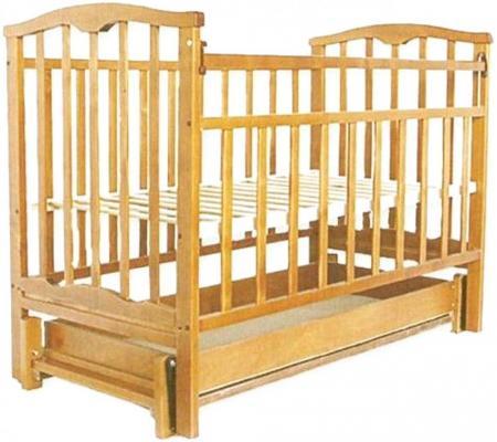 Кроватка с маятником Золушка-6 (светлый)