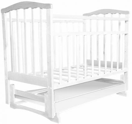 Кроватка с маятником Золушка-6 (белый)