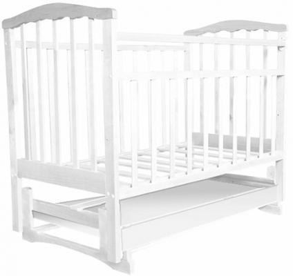 Кроватка с маятником Агат Золушка-6 (белый) цены онлайн